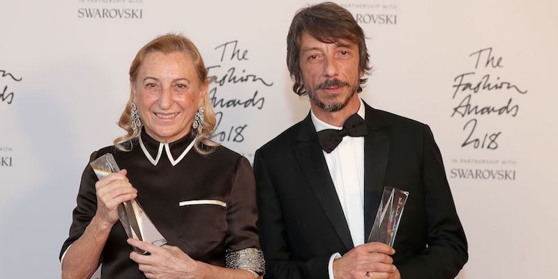 The Italians celebrated at the 2018 British Fashion Awards