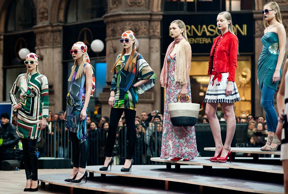 milan fashion week milano duomo italy made in italia dress moda settimana
