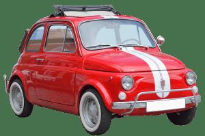 fiat 500 cars italian car italy motors road red white icon