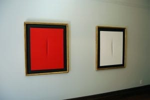 Lucio Fontana art paint paints arte gallery in