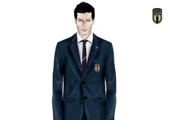 italy italia armani soccer football team suits armani fashion