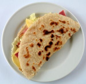 piadina food Italian Italy Emilia bread salad plate tradition