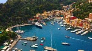 Portofino liguria sea mare boats view italy