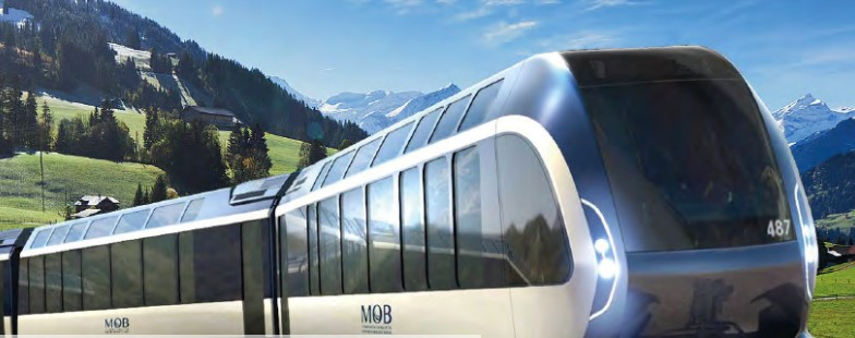 The new train to tour the Alps designed by Pininfarina
