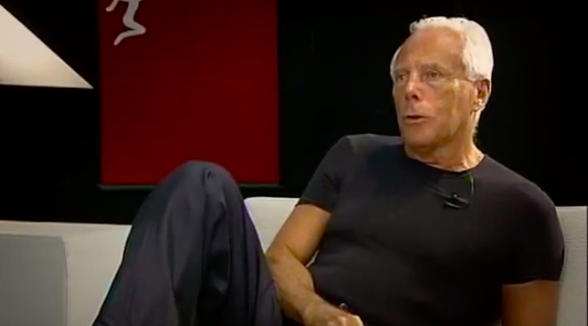 Giorgio Armani writes an open letter to the fashion industry