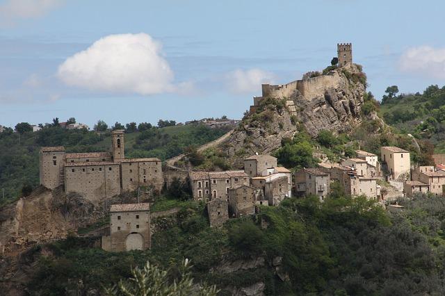 castle roccascalegna sky cloud rocks